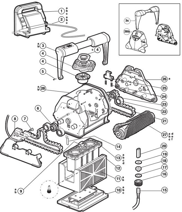 Parts For Polaris 9300 Sport Pool Cleaner